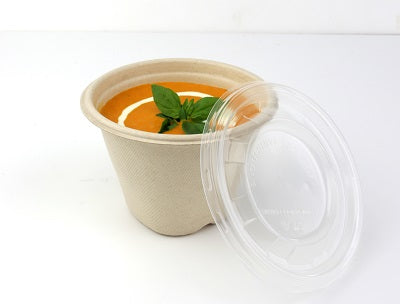 16oz Sustainable Soup Pots with PP Lids - GM Packaging (UK) Ltd