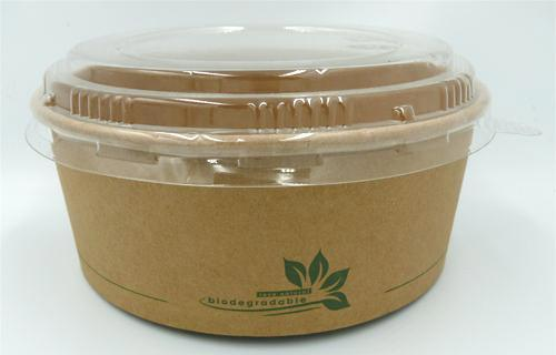 750cc kraft PLA salad bowls - GM Packaging