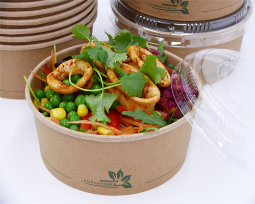 750cc compostable salad bowls - GM Packaging