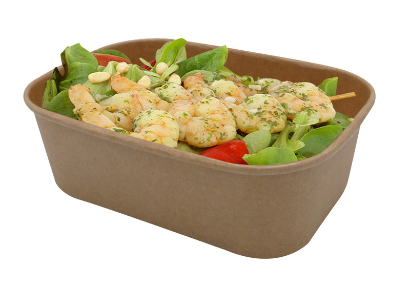 750ml kraft food containers