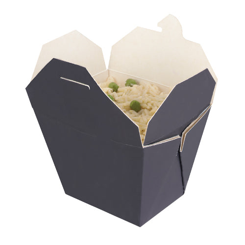 750ml Black & White Cardboard Food Box