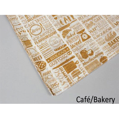 297x210mm Greaseproof Paper Cafe/Bakery-Yellow - GM Packaging (UK) Ltd