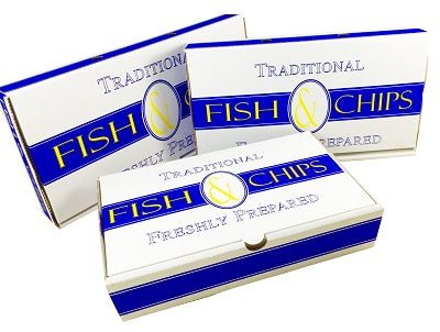 Large Fish and Chips Boxes 'Traditional' - GM Packaging (UK) Ltd