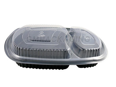 2 Compartments CLEAR DOME LIDS/400s - GM Packaging (UK) Ltd