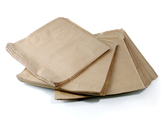 10 x 10 Large Brown Strung Paper Bags - GM Packaging (UK) Ltd