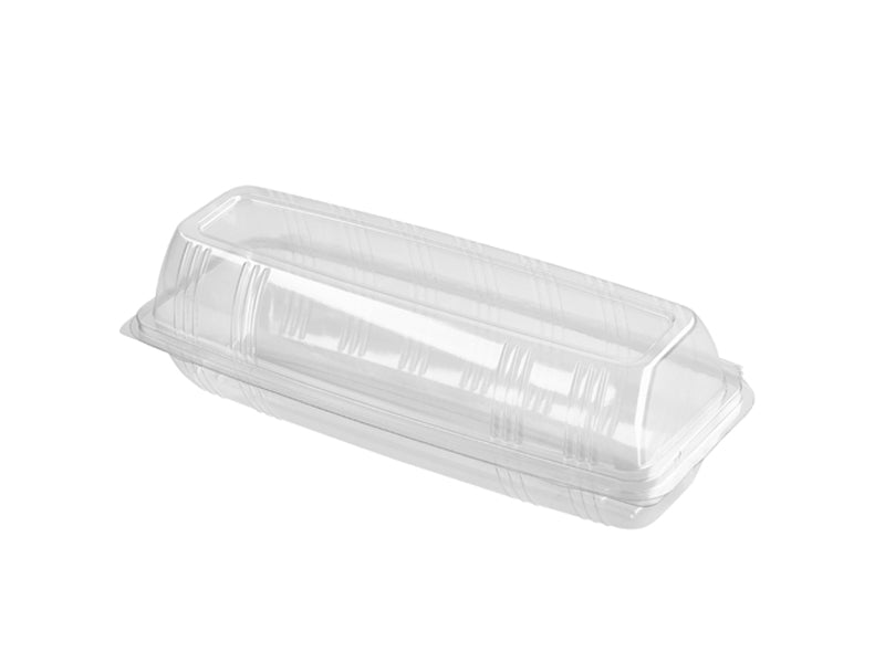 "9"" Baguette Containers Hinged Lid - GM Packaging (UK) Ltd"