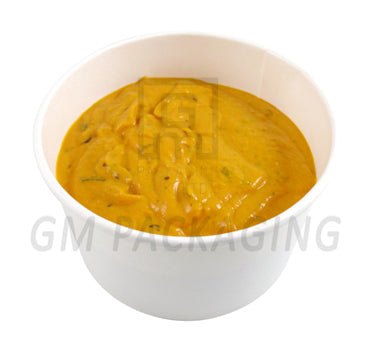 8oz White Paper Soup Cups with Lids - GM Packaging (UK) Ltd