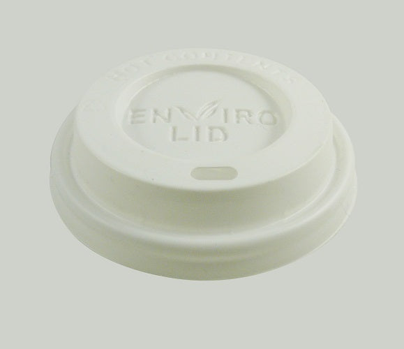 8oz Compostable Coffee Lid - GM Packaging (UK) Ltd