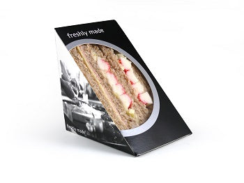 Triple Fill Black Card Sandwich Wedges, Bio 'Classique' - GM Packaging UK Ltd