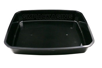 3200cc PP Black Food Lidding Tray - GM Packaging (UK) Ltd