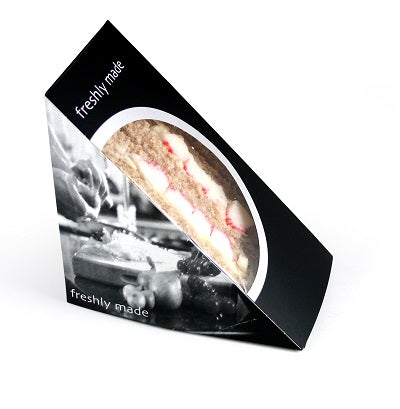 Deep Fill Black Card Sandwich Wedges, Bio 'Classique' - GM Packaging UK Ltd