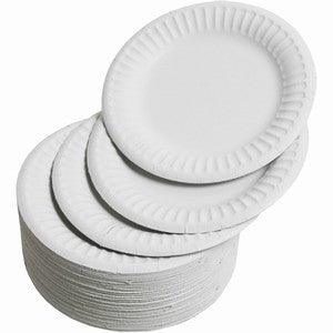 "9"" Round Paper Plates - GM Packaging (UK) Ltd"