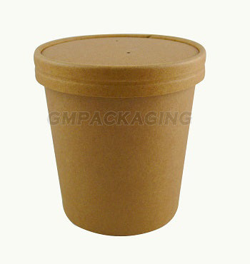8-16oz Kraft Vented Soup Lids - GM Packaging (UK) Ltd