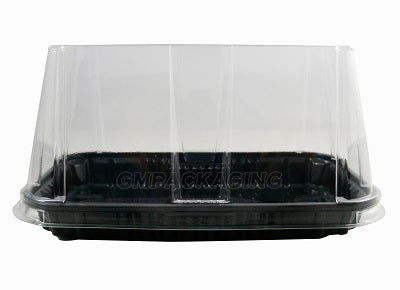 80mm Clear Rectangular Gateaux Dome Lid/400s