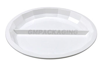 2 Compartments White Round Plate - GM Packaging (UK) Ltd