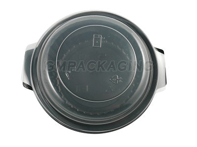 Round Black Plastic Microwave Bowls (*Lids not included)