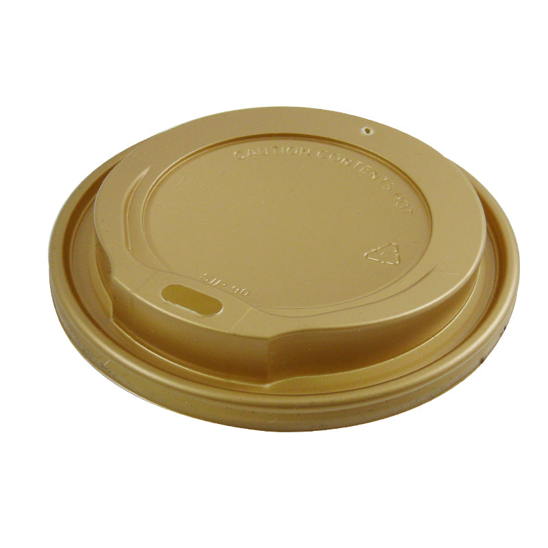 80mm Gold Plastic Coffee Lids - GM Packaging UK Ltd