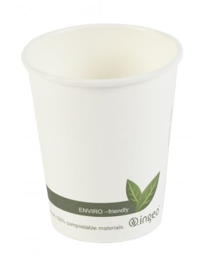 8oz bio coffee cups single wall - GM Packaging UK Ltd