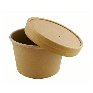 8oz Kraft Soup Cups with Lids/250s