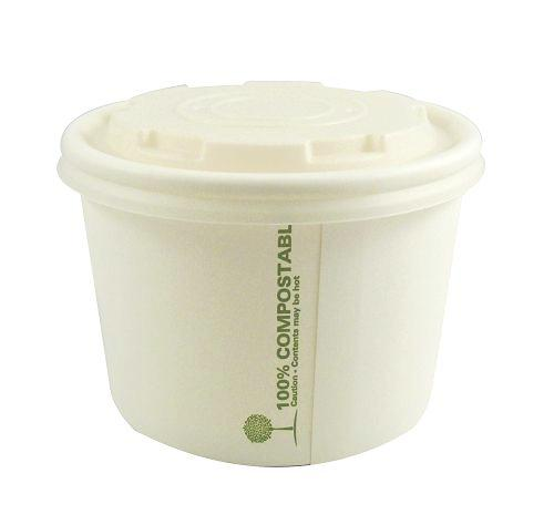 90mm Compostable Soup Lids fit 8oz - GM Packaging (UK) Ltd