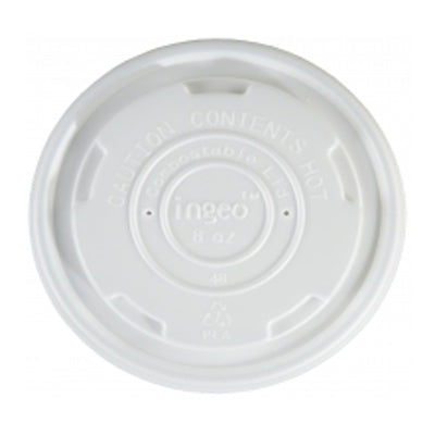 90mm Compostable Soup Lids - GM Packaging (UK) Ltd