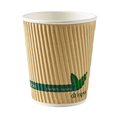 8oz compostable coffee cups - GM Packaging UK Ltd