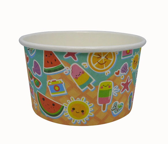 8oz compostable ice cream cups - GM Packaging UK Ltd