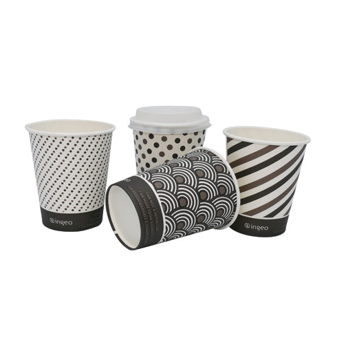 8oz Compostable Bamboo Coffee Cups - GM Packaging (UK) Ltd