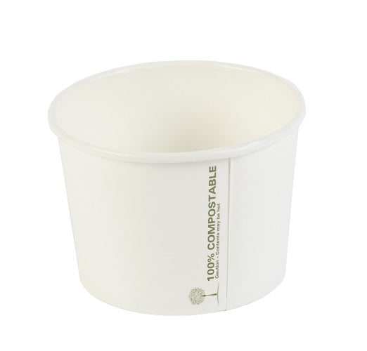 8oz compostable soup container - GM Packaging UK Ltd