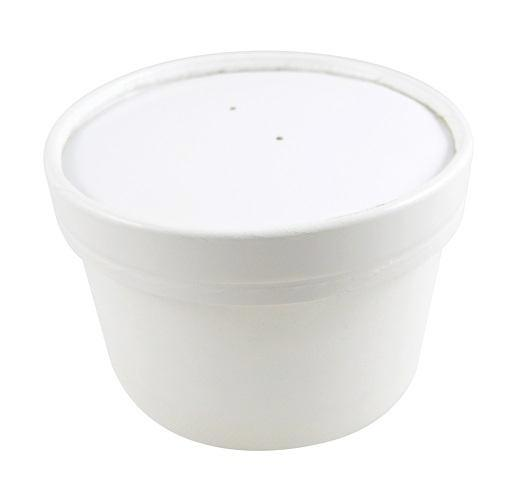8oz White Paper Soup Cups - GM Packaging (UK) Ltd