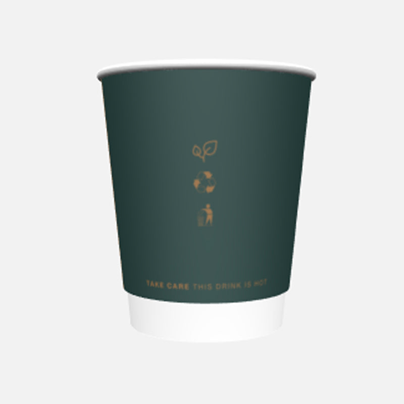 8oz reCups Green double wall cups - GM Packaging UK ltd