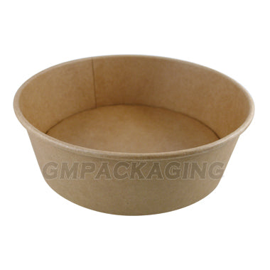1300ml Kraft salad bowls/300s - GM Packaging (UK) Ltd