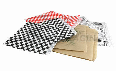 16x16.5cm Black Gingham 2 sides open Bags - GM Packaging (UK) Ltd