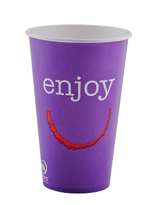 12oz Enjoy Paper Cold Cups - GM Packaging (UK) Ltd