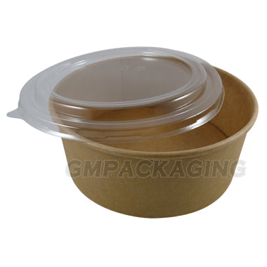 PET Dome Lid to fit 1300ml kraft bowls/300s