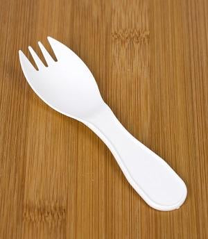 103mm White Plastic Mini Fork - GM Packaging (UK) Ltd