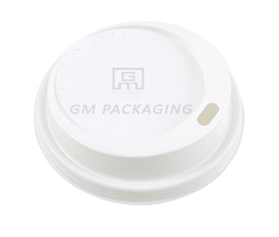 8oz/9oz White Plastic Sip Coffee Cup Lid - GM Packaging (UK) Ltd
