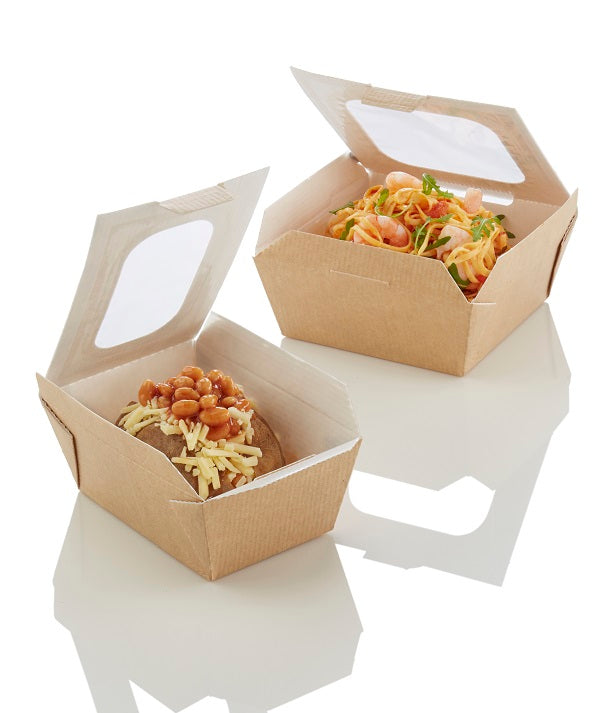 17.6oz Food to go Box with window - GM Packaging (UK) Ltd