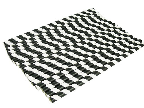 9mm Black and White Striped Paper Straws - GM Packaging (UK) Ltd