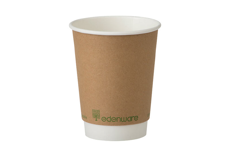 8oz KRAFT Compostable Coffee Cups