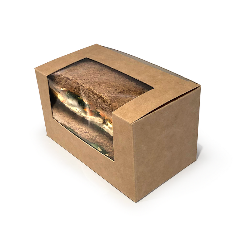 Kraft Bloomer Sandwich Box - GM Packaging (UK) Ltd
