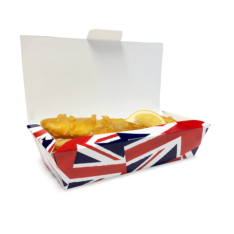 Medium Fish and Chip Box 'Union Jack' - GM Packaging (UK) Ltd