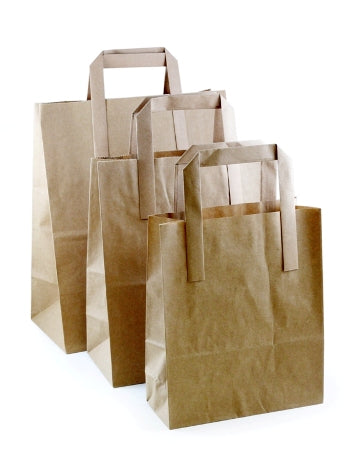 Medium Brown Kraft Takeaway Bags - GM Packaging (UK) Ltd
