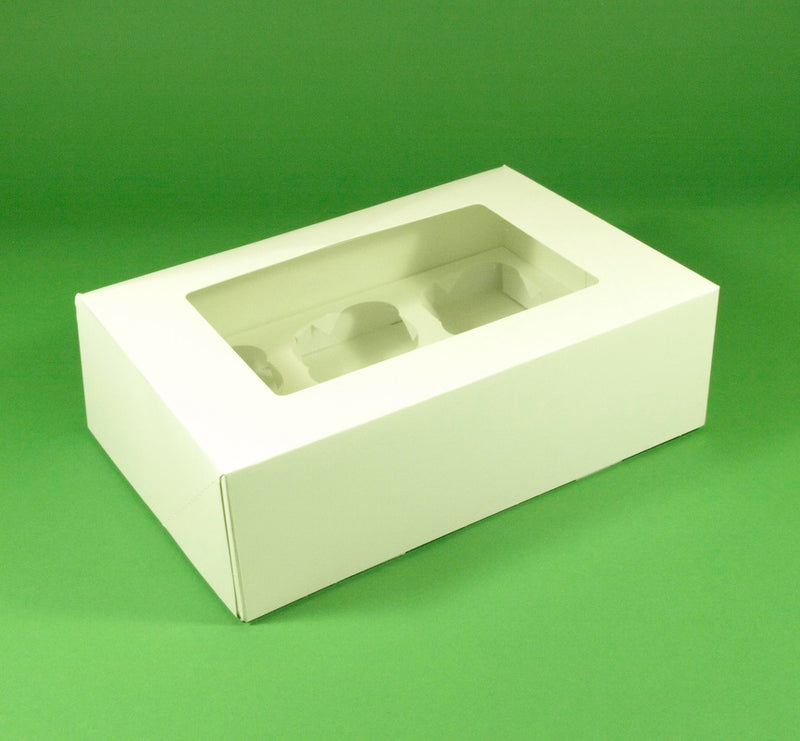 6 Cupcake Box with Window - GM Packaging (UK) Ltd