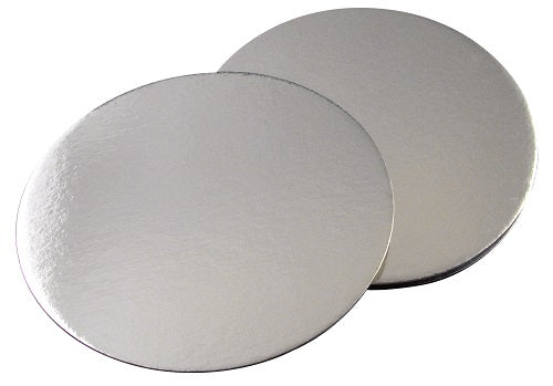"9"" Round Silver Single Thick Cake Board - GM Packaging (UK) Ltd"