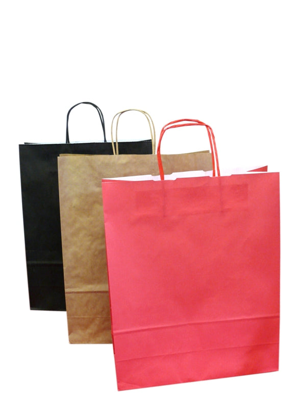 Carrier bags with twisted handles - GM Packaging UK Ltd