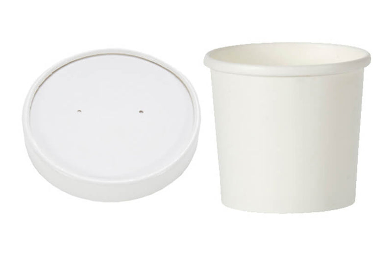 16oz White Paper Soup Cups with Lids - GM Packaging (UK) Ltd