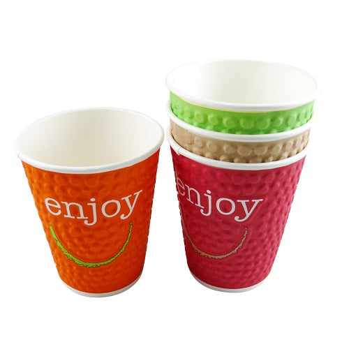 12oz Enjoy Coffee Paper Cups - GM Packaging (UK) Ltd
