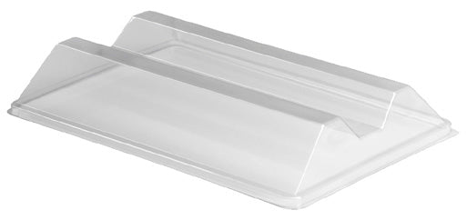 2 Compartment Medium Plastic Lid Platter - GM Packaging (UK) Ltd