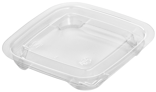 rPET Square Deli Pot Lid/1200s - GM Packaging (UK) Ltd